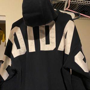 Adidas Logo Hoodie Navy